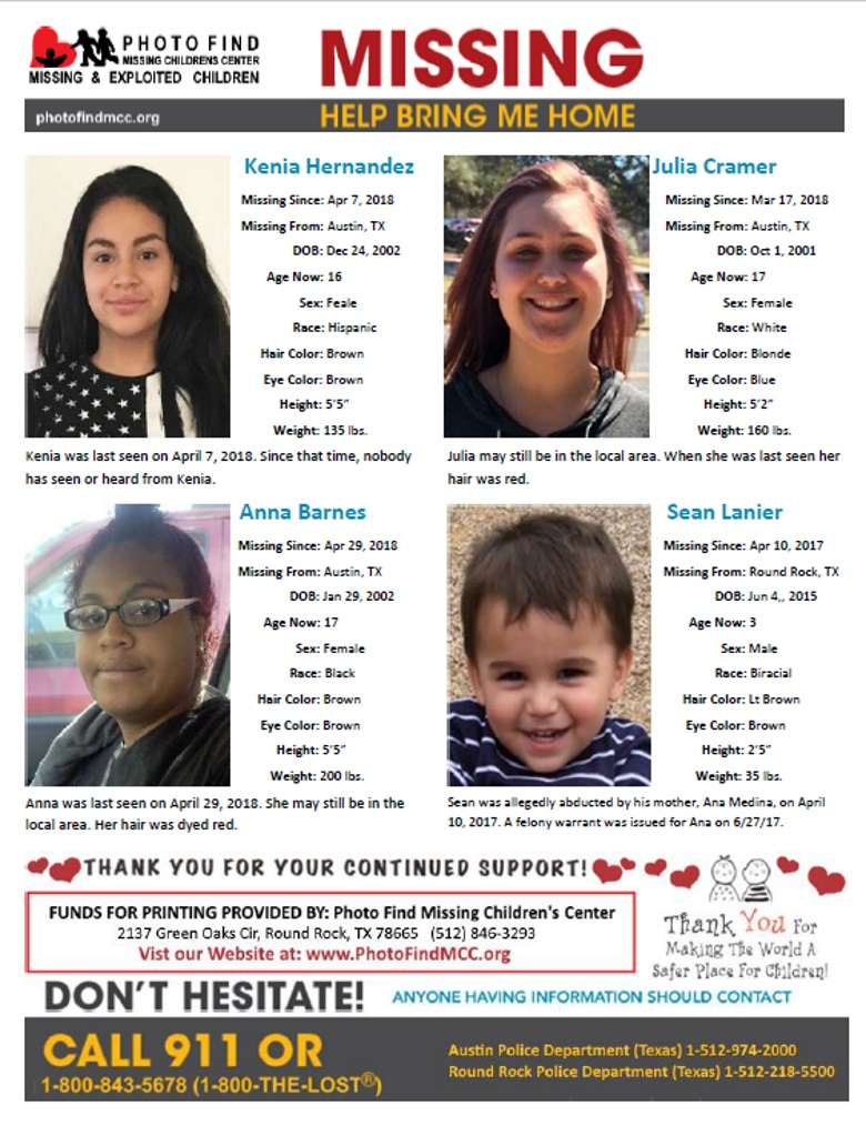 Photo Find MCC – Missing & Exploited Children